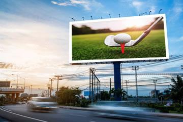 ゴルフ集合板案内広告板